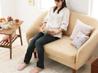 丸いフォルムで乙女デザインの可愛い一人掛け・デザインソファ